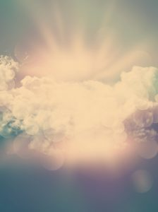 Abstract clouds background with vintage effect added